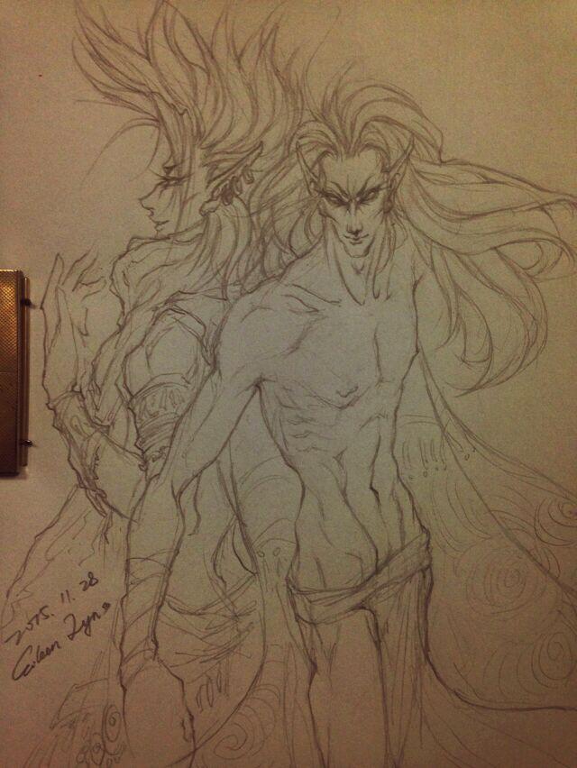 Nerevar and Voryn by EileenLyn