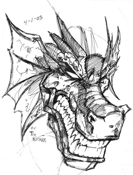 Dragon Face Sketch By TheMonkeyYOUWant On DeviantArt