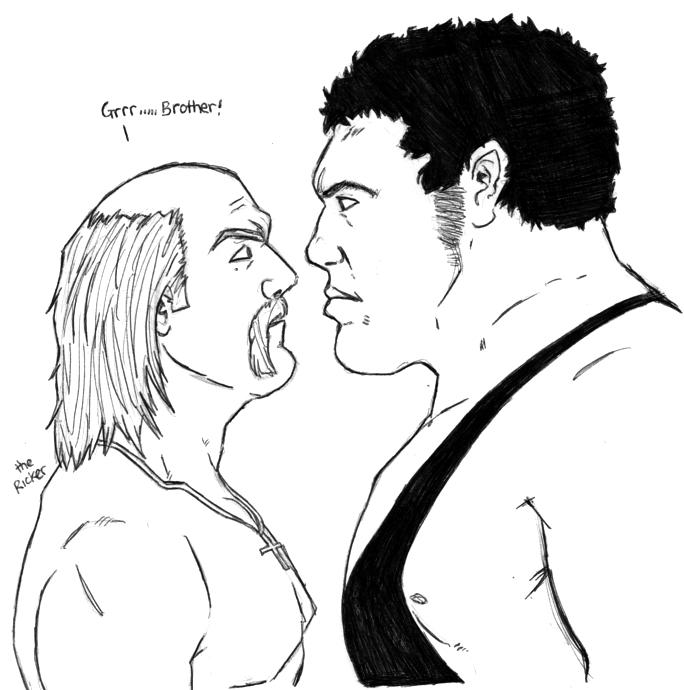Hulk Hogan VS Andre The Giant By TheMonkeyYOUWant On DeviantArt