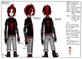 Gary The Goth Model Sheet by TheMonkeyYOUWant