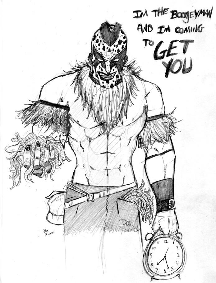 Wwe the boogeyman by themonkeyyouwant on deviantart for Wwe coloring page