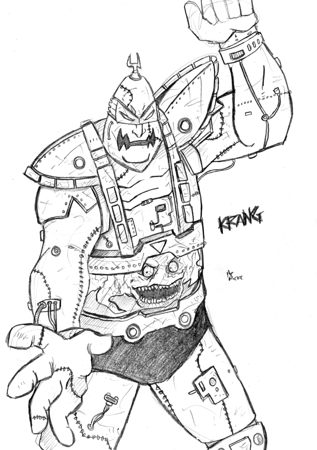 Tmnt villain krang by themonkeyyouwant on deviantart for Villain coloring pages