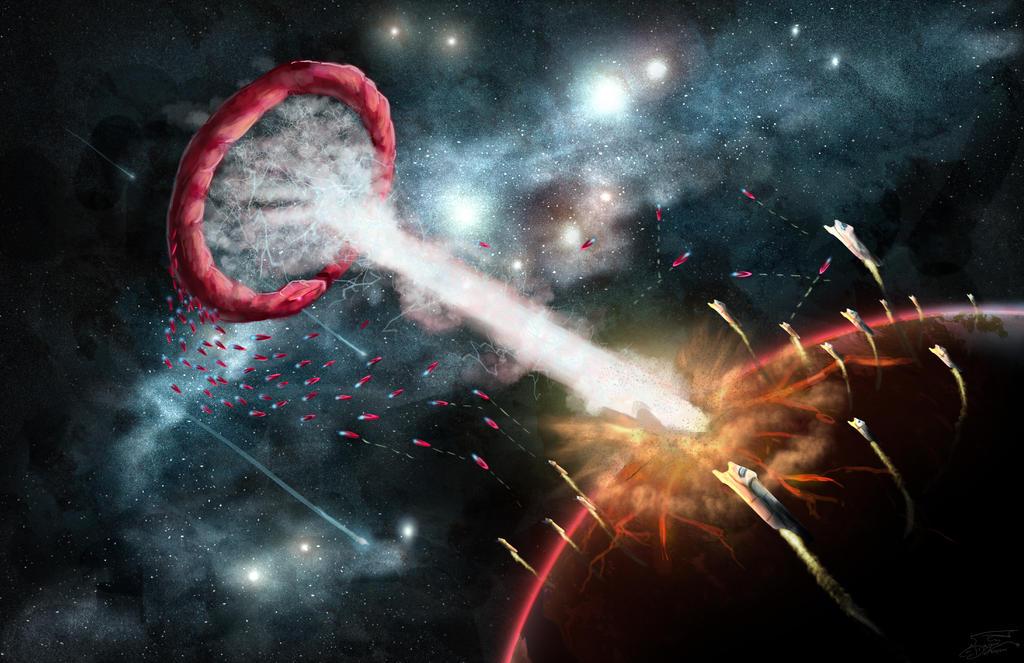 Space Battle by WacomDragonArtist