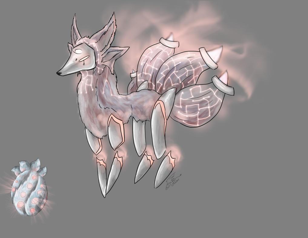 Silver Fox Adopt-Hatched! by WacomDragonArtist