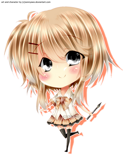 chibi schoolgirl by sonnyaws