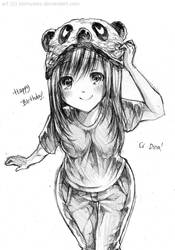 Happy Birthday ci Dina~! by sonnyaws
