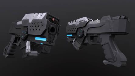 Low Poly Sci-Fi Pistol by Phantasis