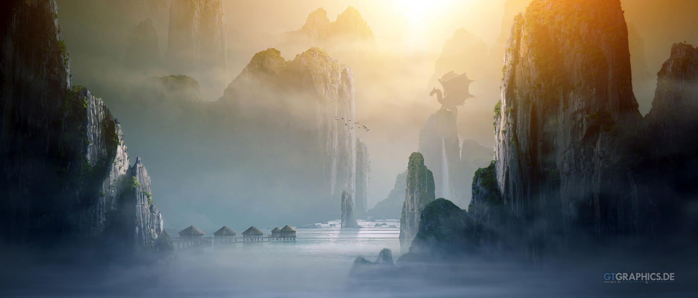 Misty Mountains by taenaron