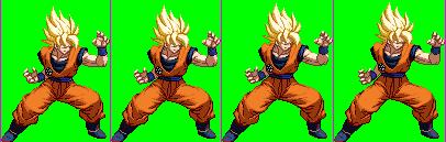 Goku SSJ Figtherz Stance Sprites Extreme Butoden by gil-777