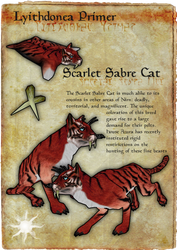 Lyithdonea Primer: Scarlet Sabre Cat by ericthered1090