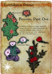 Lyithdonea Primer: Flowers, Part One by ericthered1090