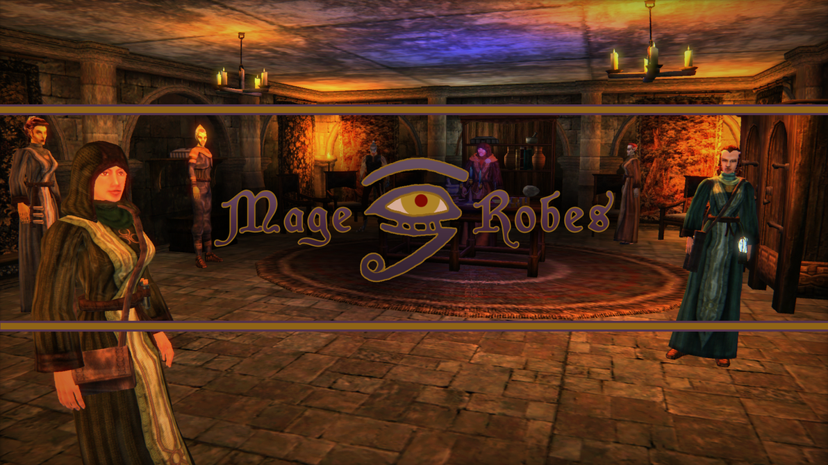 TES3 Morrowind Mod: Mage Robes by ericthered1090