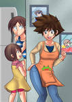 Like mother, like daughter digimon tg by Rezuban