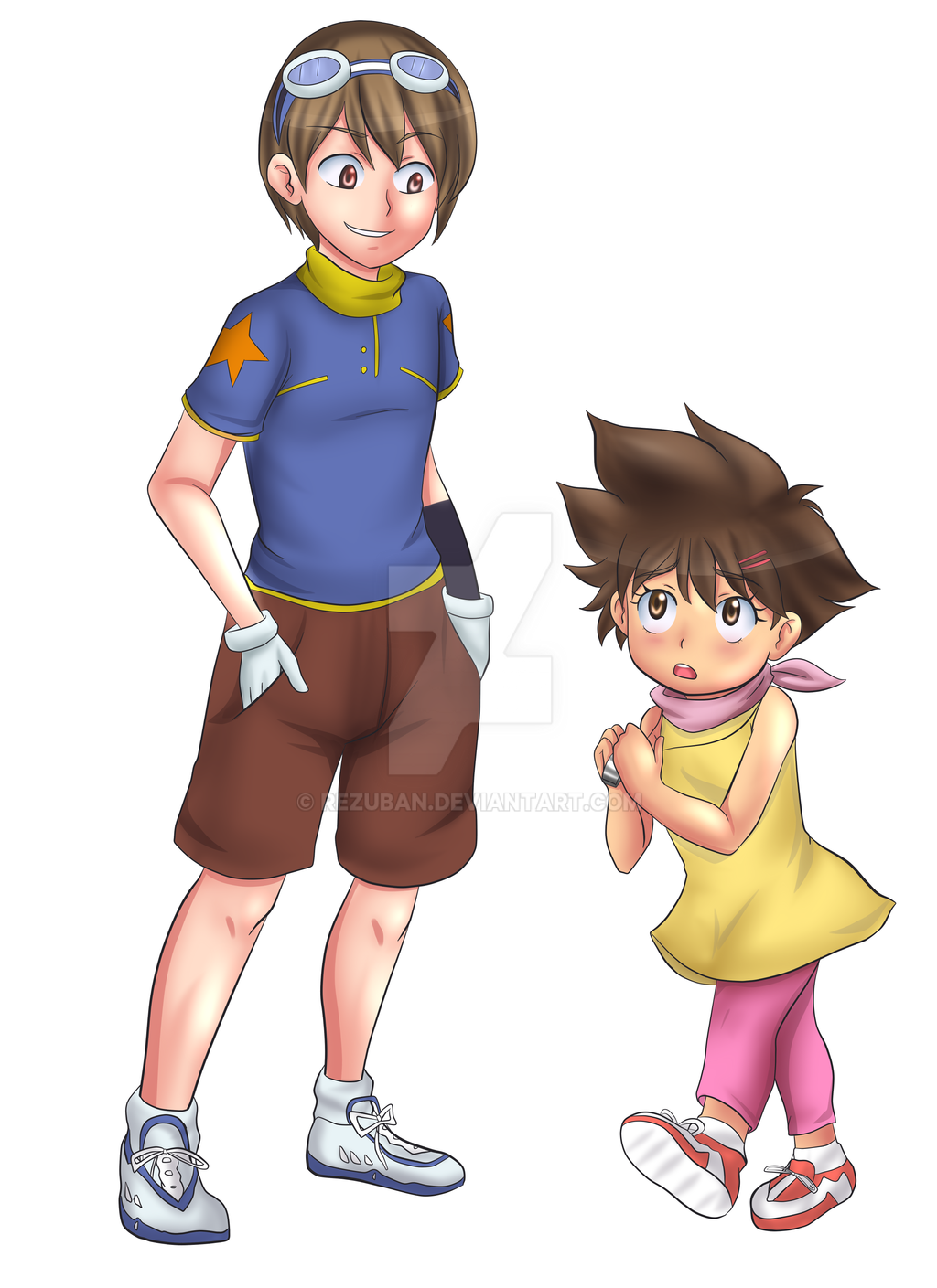 Tai and Kari Digimon TG Ageswap by Rezuban on DeviantArt
