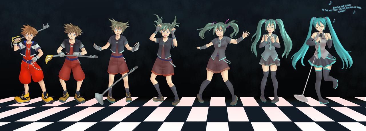 Sora Transforms into miku Tg sequence Final by Rezuban