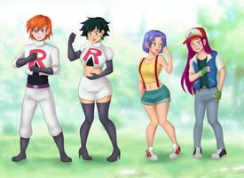 Team rocket ash and misty Tg by Rezuban