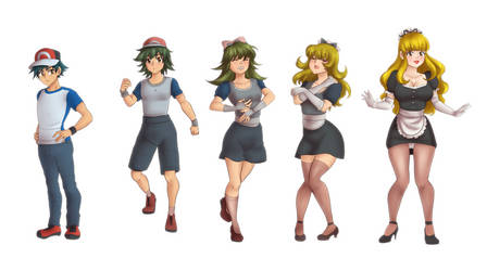 Ash to Maid Tg Sequence Colored