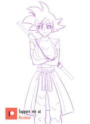 Xeno Goku TG Sketch