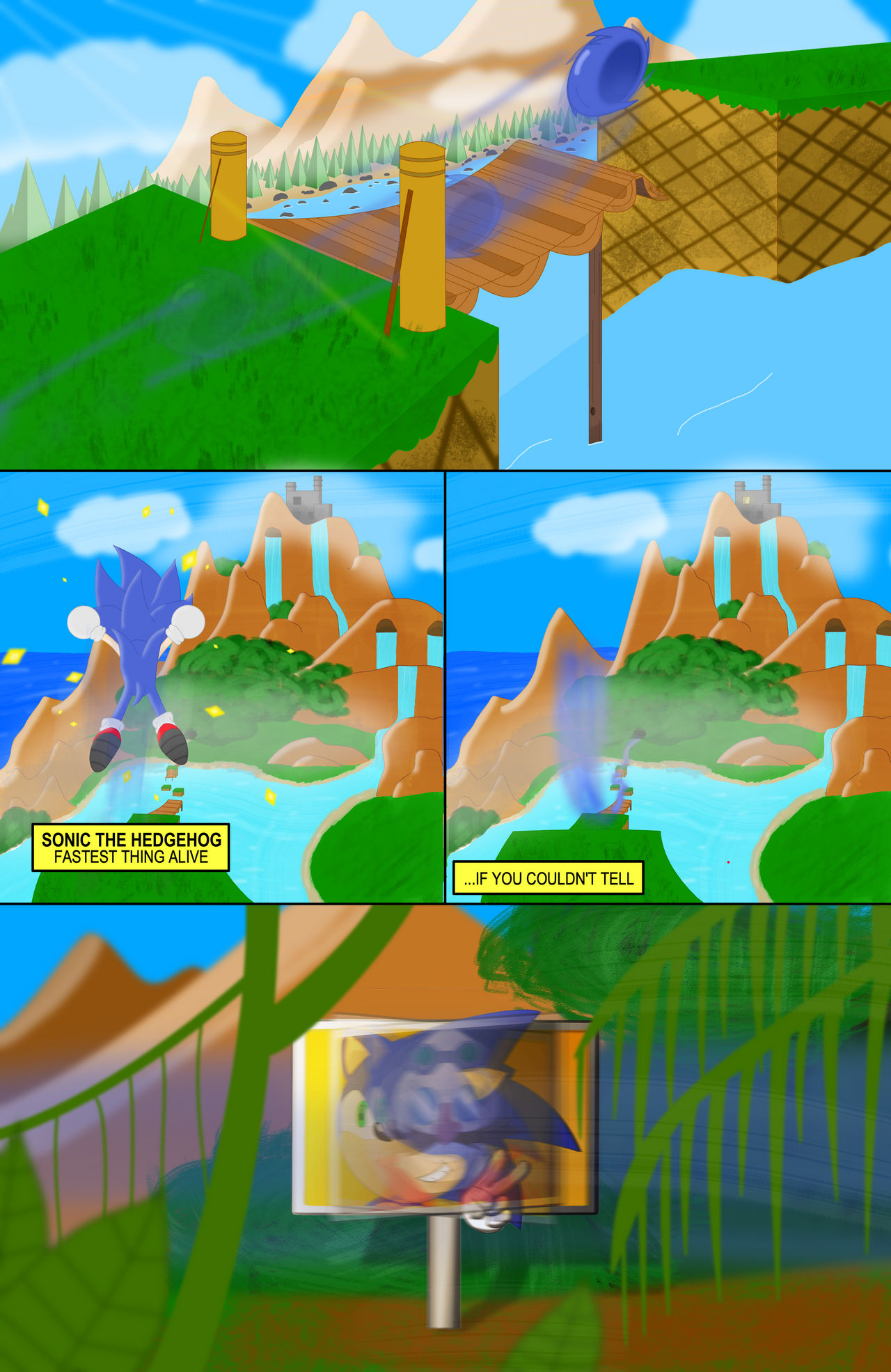 Sonic The Hedgehog Infinite Fun 1 Bridge Zone By Mrapplesalad On Deviantart
