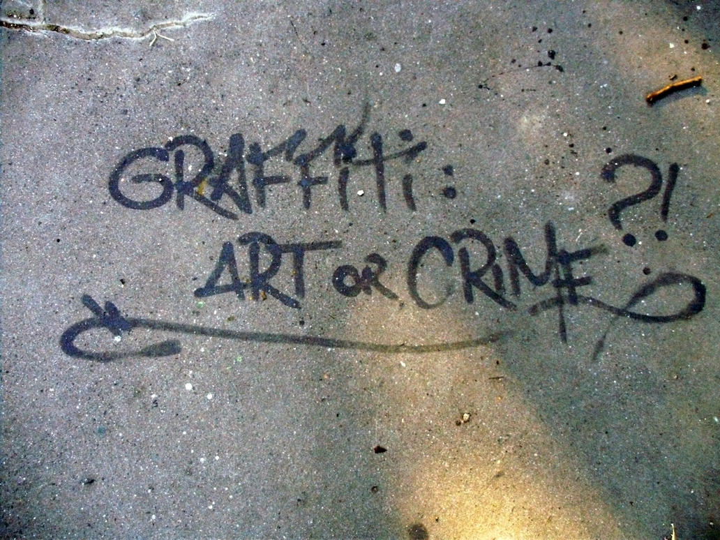 is graffiti art or crime essay What is graffiti graffiti, thought by many, is an eyesore, a sign of urban decay, vandalism, illegal, not art, a crime when graffiti is seen on buildings, signs, or.