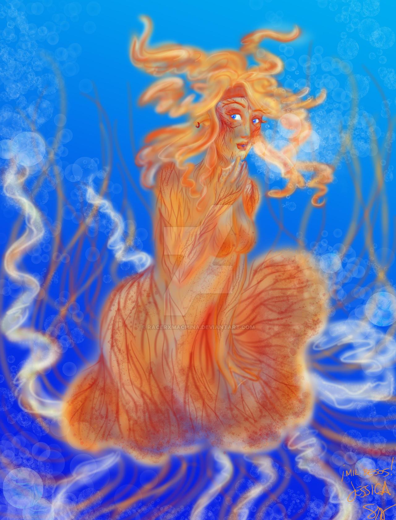 Jellyfish Girl by racerxmachina