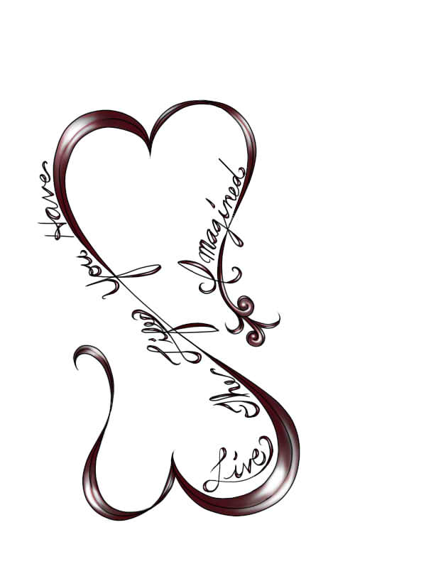 Infinity Heart Tattoo Drawing
