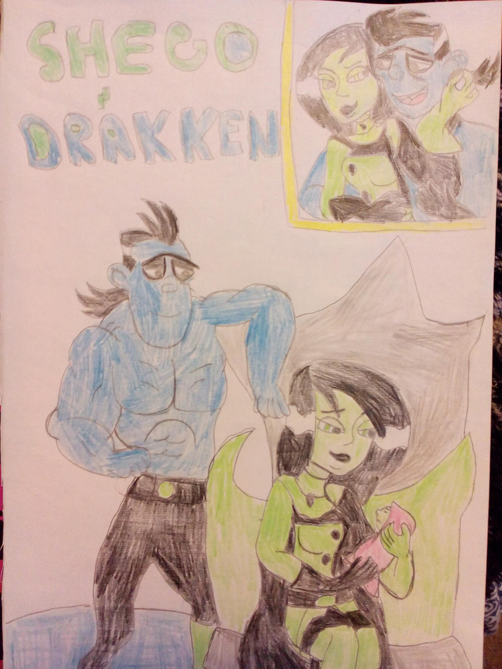 future drakken and shego with baby me by aliciamartin851 ...