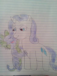 mlp spike and rarity kiss by aliciamartin851