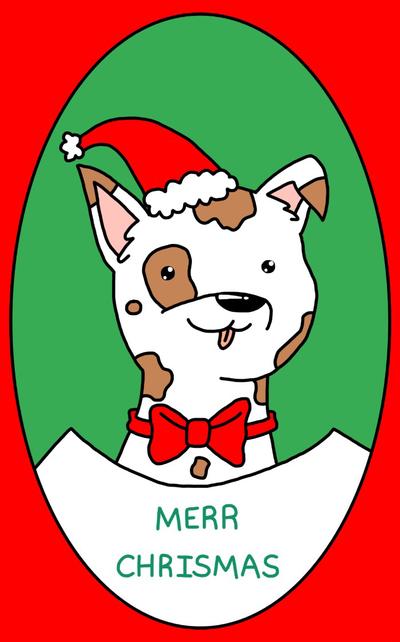 Christmas doggo by HetalianTrash583 on DeviantArt