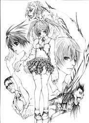 Death Note: Lineart2 by tsukimikaze