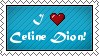 I love Celine Dion stamp by AlbinoRichie