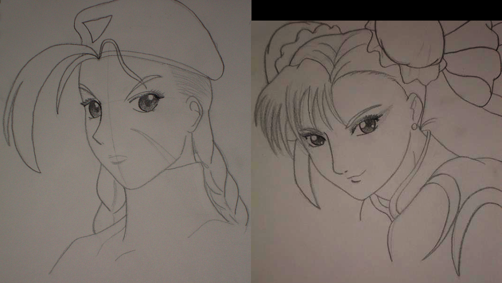 Cammy + Chun-Li Sketches by Mayleth