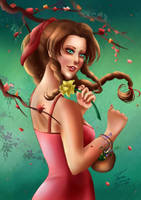 Aerith, the Flower Girl by Mayleth