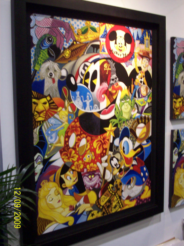 D23: Hidden Mickey painting by foxanime101