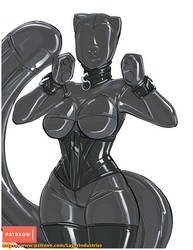 Faceless rubber kitty by CommanderRab
