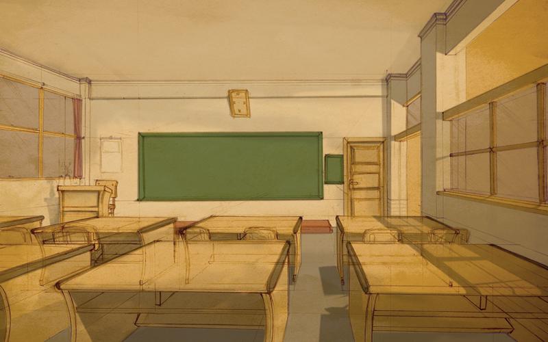 Classroom 1 by Clockheart