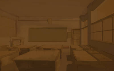 Classroom monochrome