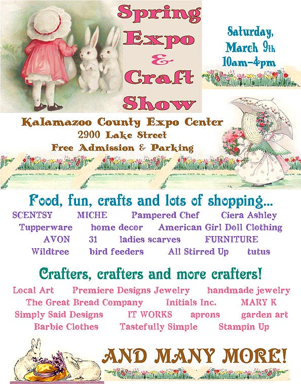 Kalamazoo michigan spring craft show march 9 2013 by for Craft show in michigan