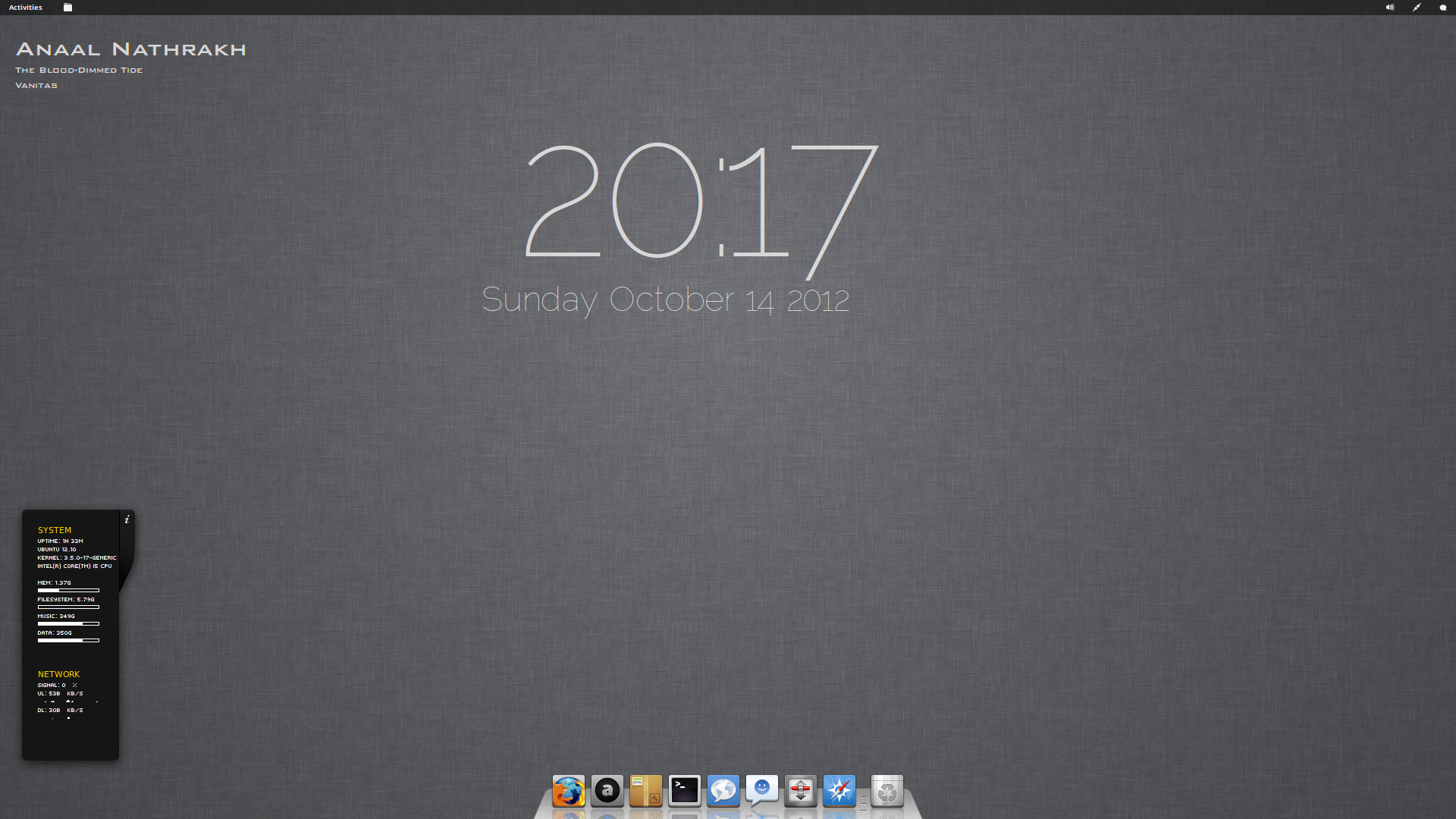 Simple, Minimal Gnome 3.6 by Dobbie03