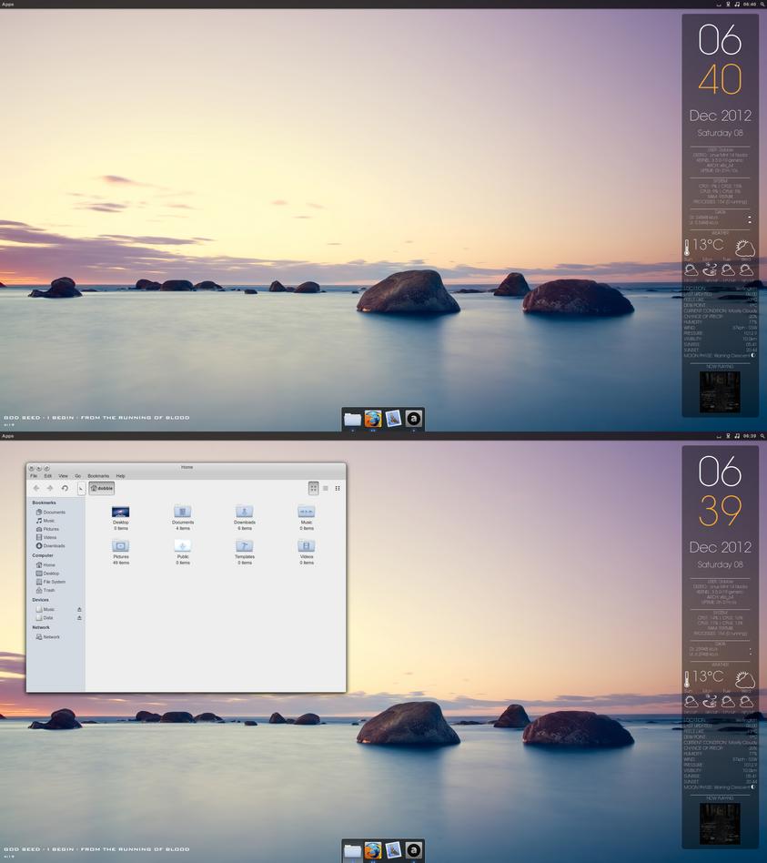 Shoreline Gnome Desktop by Dobbie03
