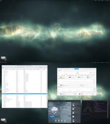 Arch Desktop Nebula by Dobbie03