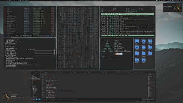 dwm Misty Forest screenshot