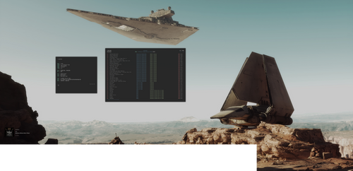 dwm Double Screen Star Wars Desktop