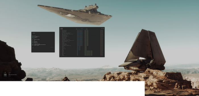 dwm Double Screen Star Wars Desktop