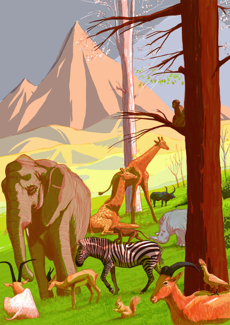 happy Jungle 02 120 by YaZakaria