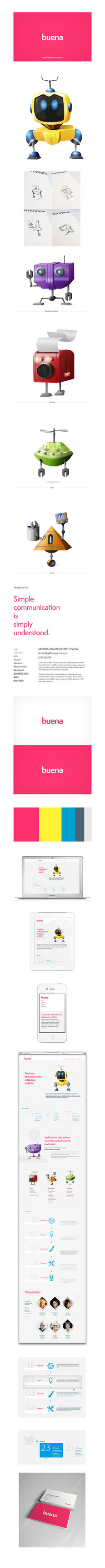 Buena - Visual Identity and Web Design by ouwEnz