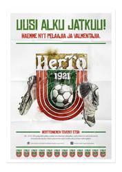 HerTo - Football club poster