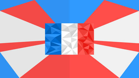 French Flag - Triangled