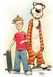 Calvin and Hobbes by jusdog