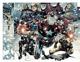 FCBD Avengers p.8-9 by JohnRauch